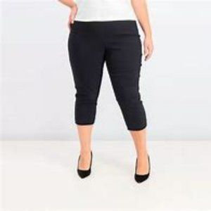 NEW Black Denim Summer Capri Cropped Pants Size 16